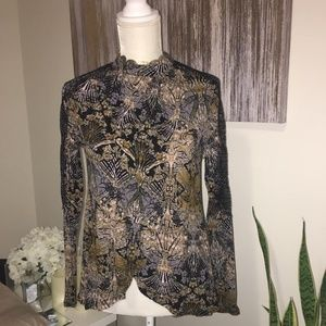 free people high low longsleeve size XS/TP